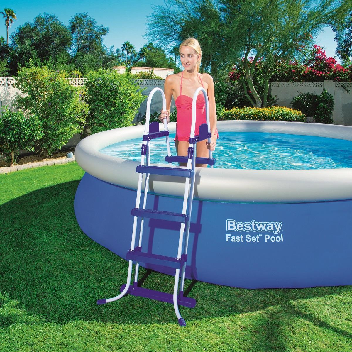 Schodíky do bazénu s výškou 107 cm